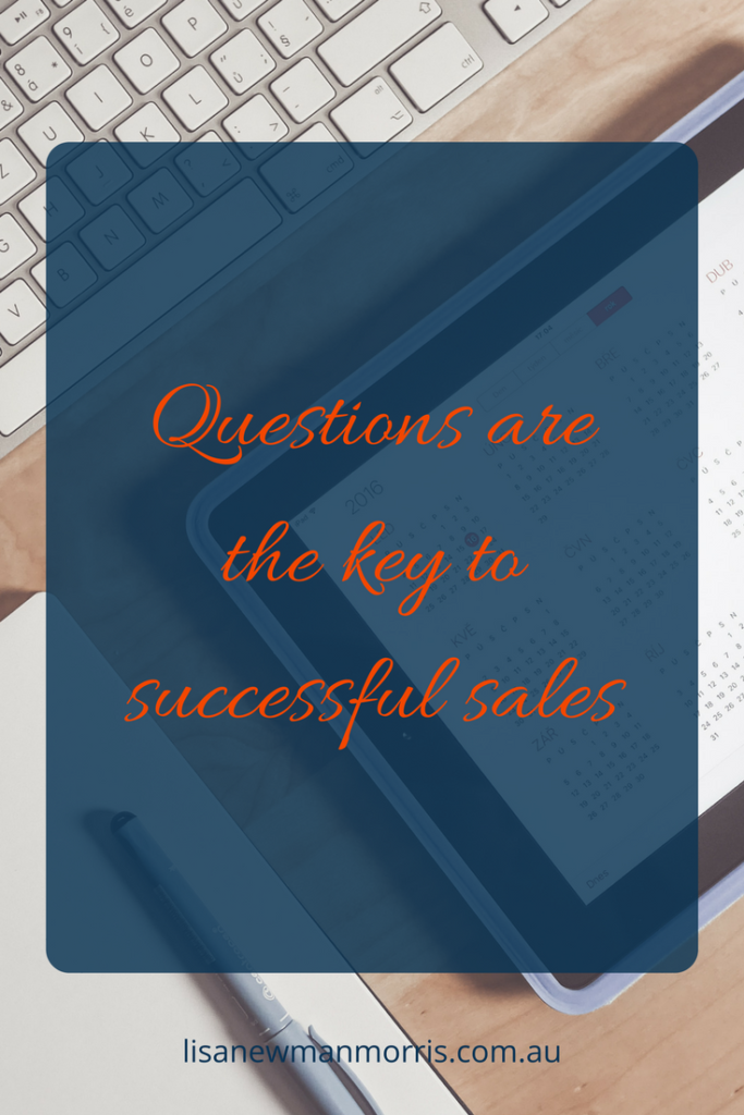 Questions are the key to successful sales